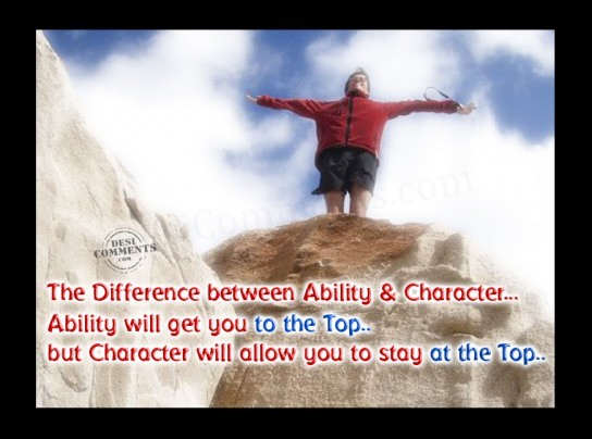 Difference between Ability & Character