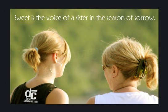 Voice of a sister…