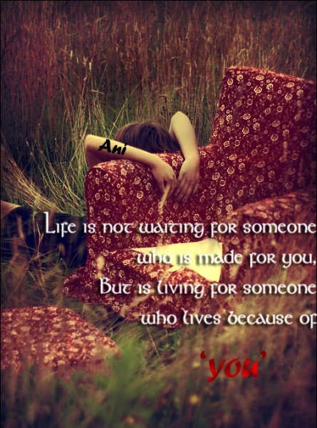 Picture: Life is not waiting for someone who is made for you