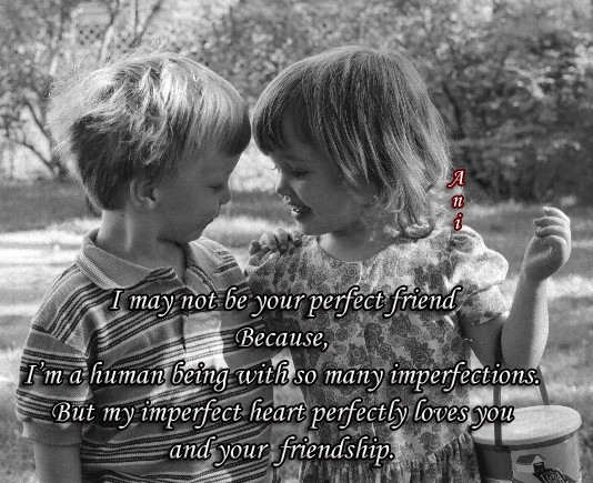 I may not be your perfect friend