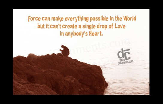 Picture: Force can make anything possible in the world