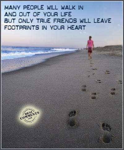 Only true friends...