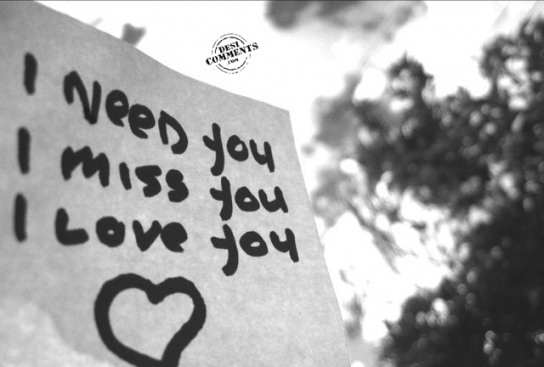 I need you, I miss you, I love you