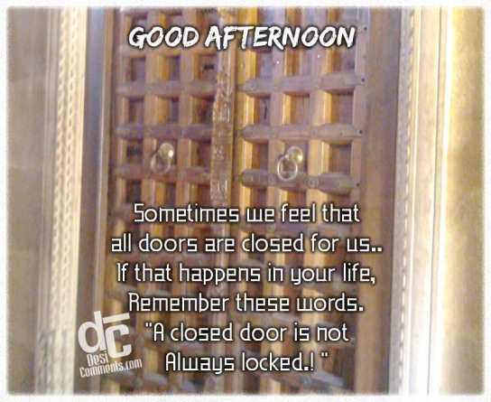 A closed door is not always locked