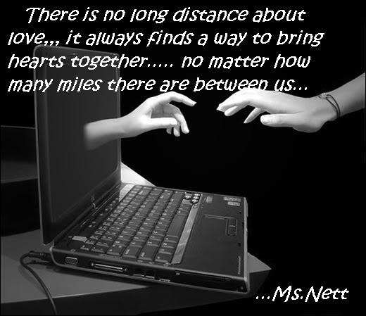 Long Distance Love Quotes : There is no long distance about love - DesiComments.com