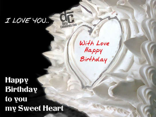 Happy birthday to you my sweetheart