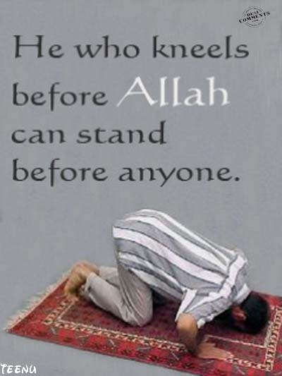 He who kneels before Allah