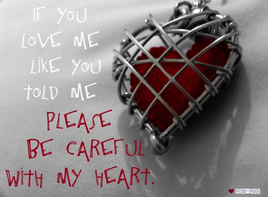 Please be careful with my heart