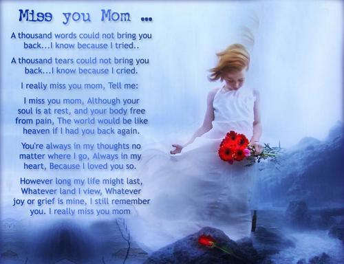 Miss you mom...