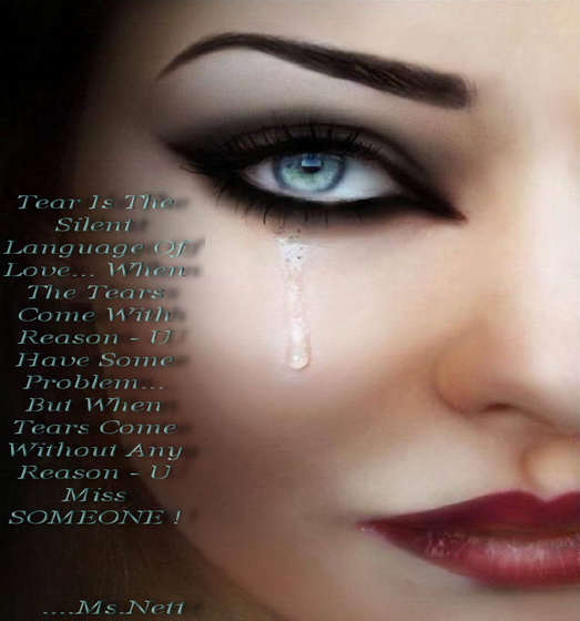 When tears come without any reason