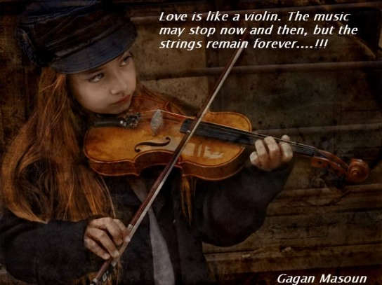 Quotes About Violinists: Love Is Like A Violin