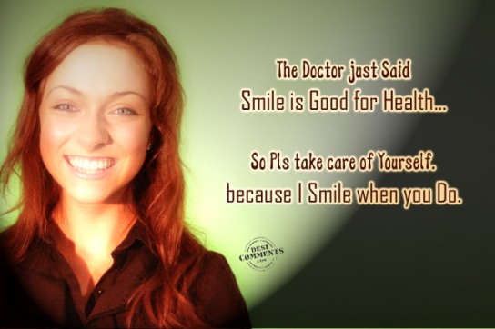 Smile is good for heath