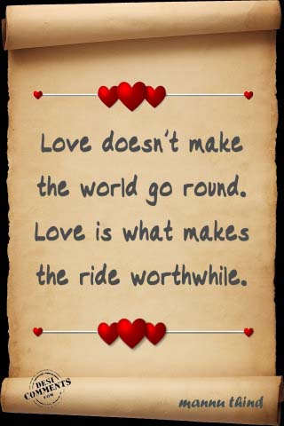 Picture: Love doesn't make the world go round