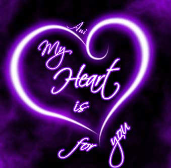 My heart is for you