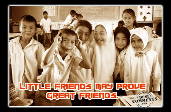 Little friends may prove great friends
