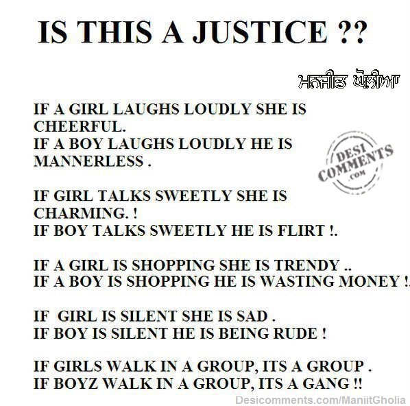Is This Justice?