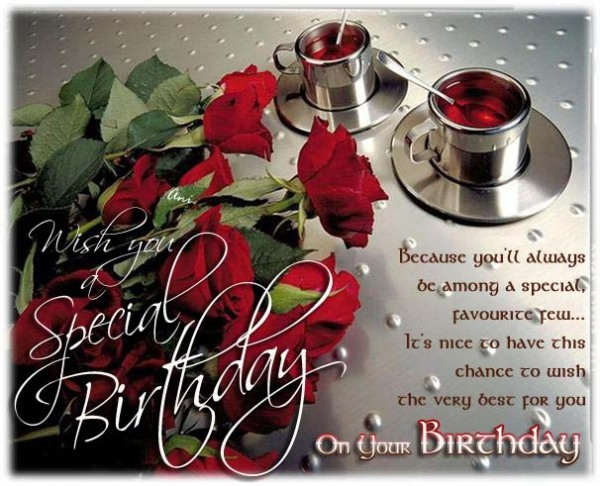 Wish You A Special Birthday