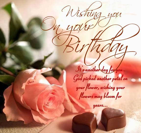 Wishing you on your birthday