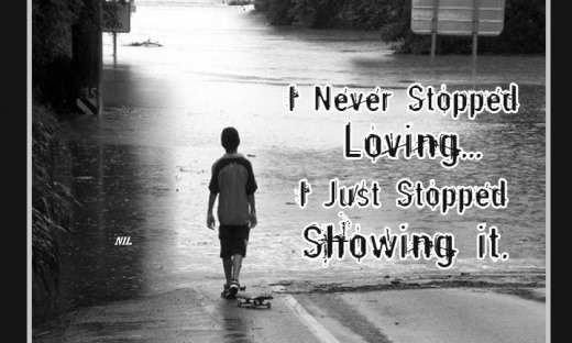I never stopped loving...