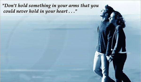 Picture: Don't hold something in your arms…