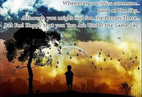 Whenever you miss someone...
