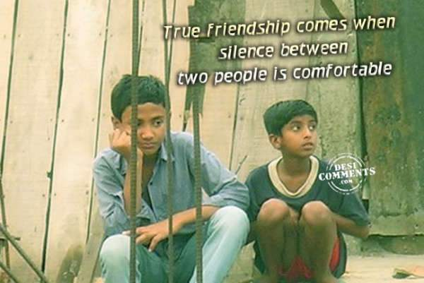 True friendship...