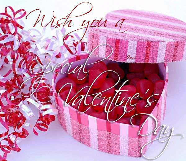 Wish you a special valentine's day
