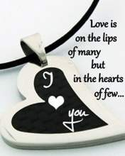 Love is on the lips of many...
