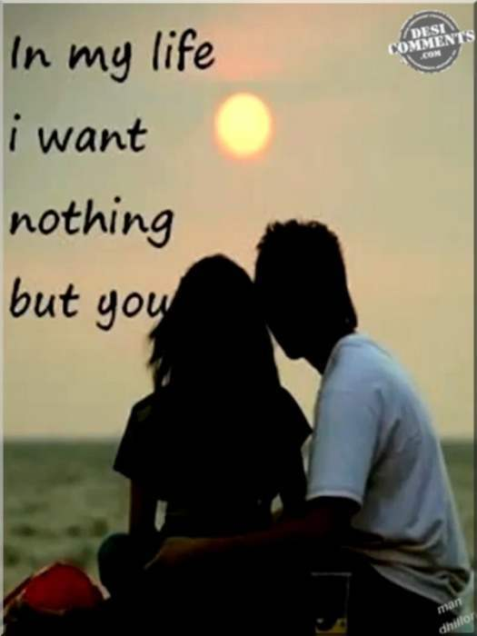 I want nothing but you