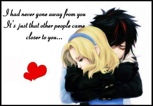 I had never gone away from you...