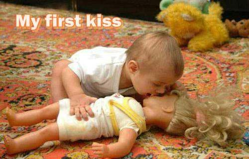 My first kiss