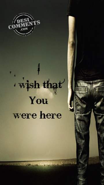 I wish that you were here...