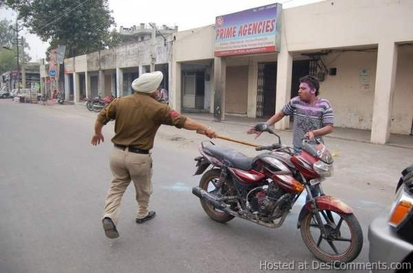 Holi with Punjab Police