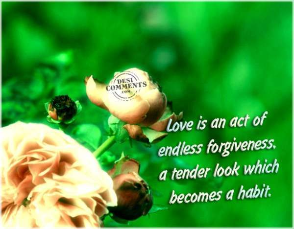 Love is an act of endless forgiveness...