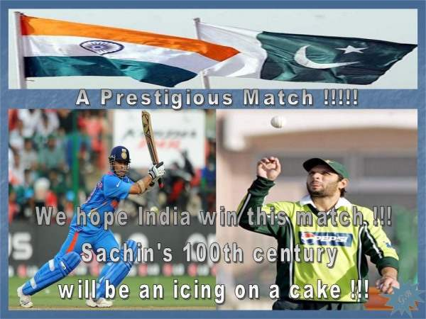 India Vs Pakistan - 30th March 2011