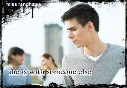 She is with someone else