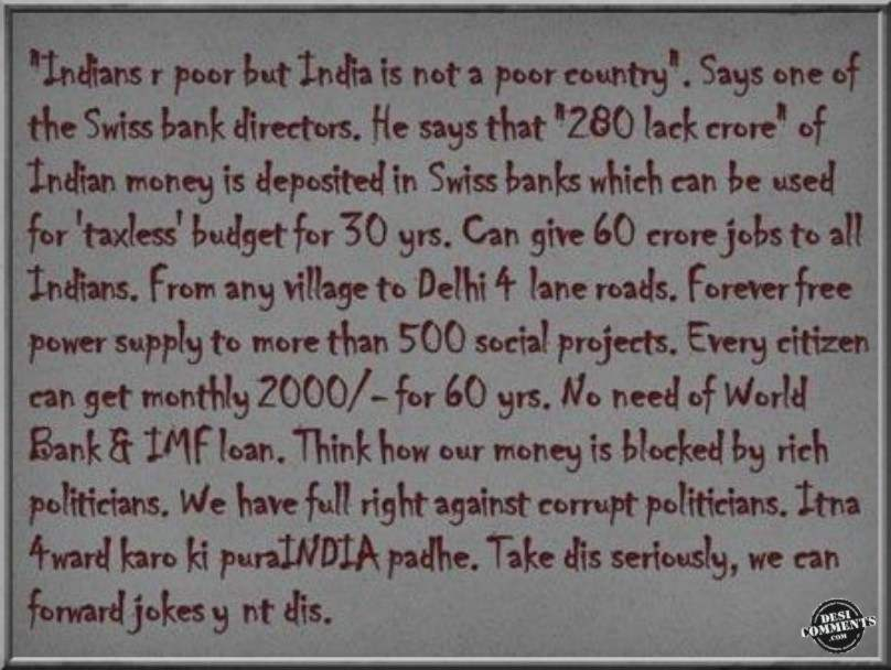India Is Not A Poor Country DesiCommentscom - Is india a poor country
