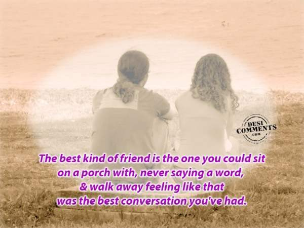 The best kind of friend...