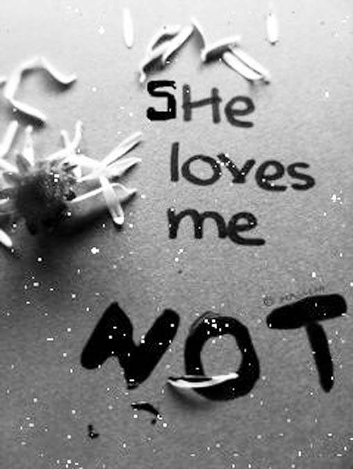 She loves me not