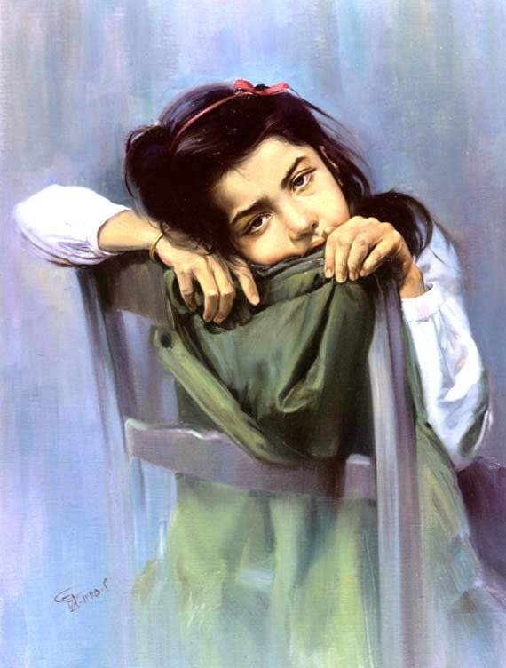 Painting Of A Sad Girl