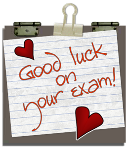 Good Luck On Your Exam!