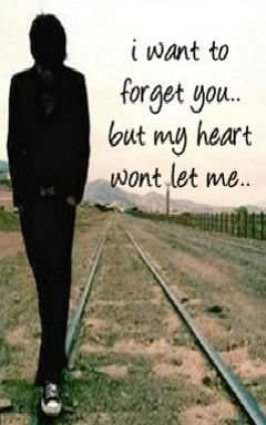 I want to forget you but my heart won't let me