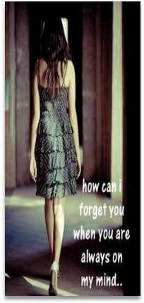 How can I forget you