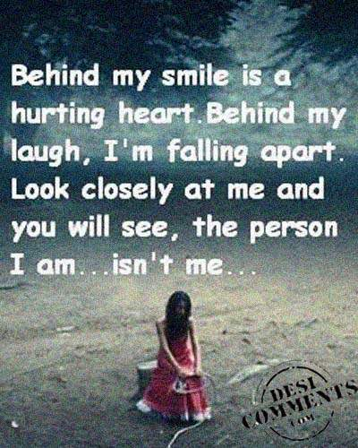 Behind My Smile Is A Hurting Heart Desicommentscom