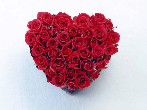 Heart Made With Red Roses