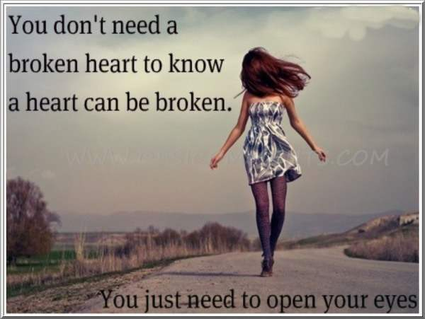 A heart can be broken