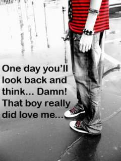 One day you'll look back and think...