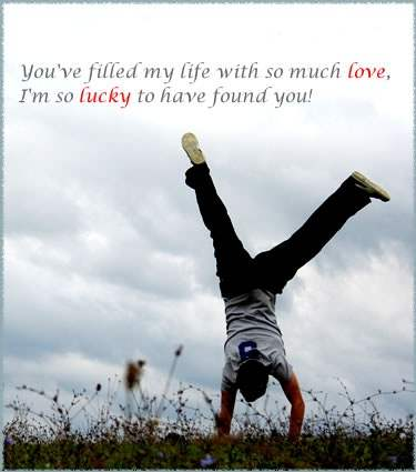 I'm so lucky to have found you!