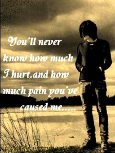 You'll never know how much I hurt...