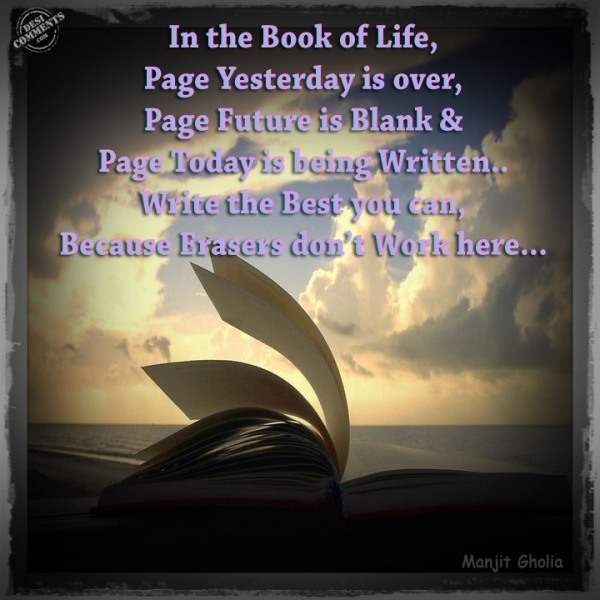 In the book of life...